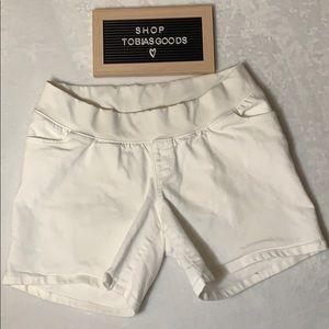 Liz Lange Maternity Shorts Size Medium 8-10 White